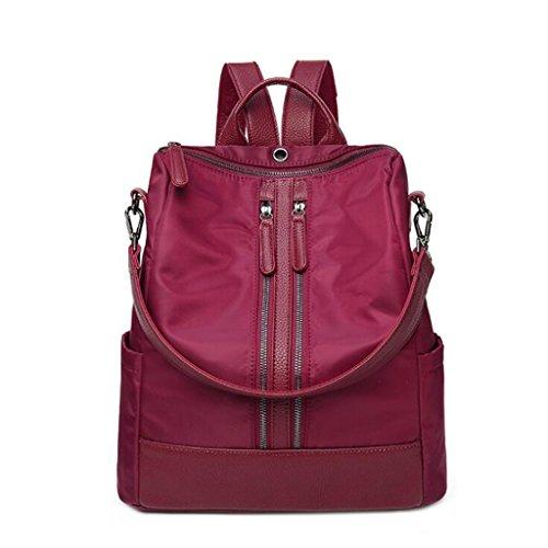 Borsa Colore Red cm tracolla spalla femminile 15 moda borsa NERO spalle viaggio da grande 32 multifunzione dimensioni donna capacità a Zaino 35 q1nUIHwAEx