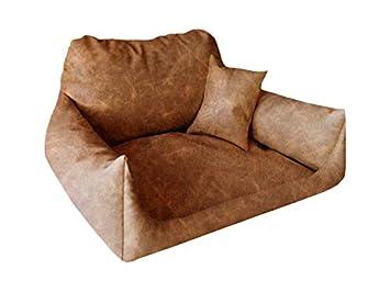 Cama para perros Nemo piel sintética M 65 x 80 Preston (muy resistente piel sintética) Dormir Espacio Perros sofá + cojín: Amazon.es: Productos para ...