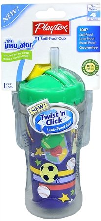 Playtex The Insulator Spill-Proof Cup With Straw 9-Ounce  1