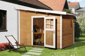 Weka - Abri de jardin 7m2 en appentis toit massif, parois 28mm ...