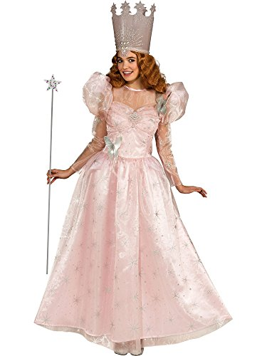 America Deluxe Wizard Dress - Rubie's Wizard Of Oz Deluxe Adult Glinda The Good Witch with Dress and Crown, Standard