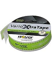 Isover 560122 Vario XtraTape 20 m x 60 mm voor het verlijmen van het klimaatmembraan plakband met vingerlift voor het eenvoudig losmaken van de liner voor binnen en buiten