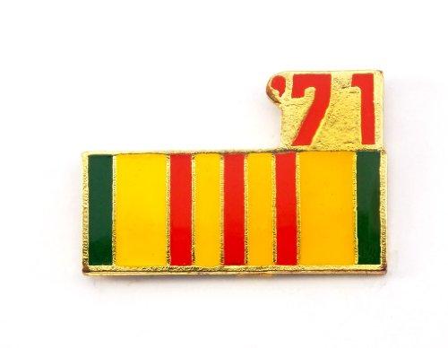 (Vietnam Veteran 1971 Ribbon Lapel Hat Pin Marines Army Navy Air Force PPM799)