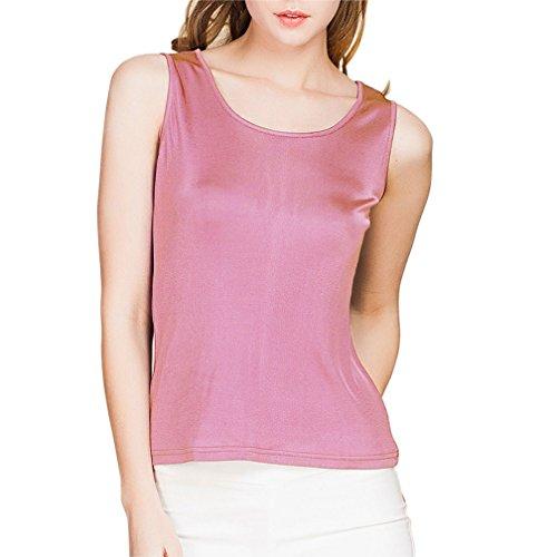 - Paradise Silk 100% Silk Knit Women's Sleeveless Tank Top Medium Rubber Red