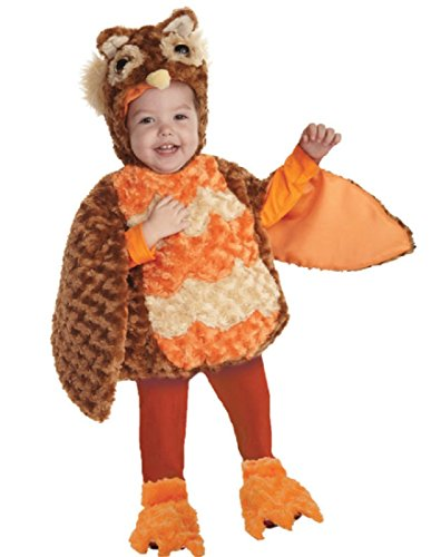 [Underwraps Toddler's Owl Belly-Babies, Brown/Orange/Tan, Large] (Infant Owl Halloween Costumes)