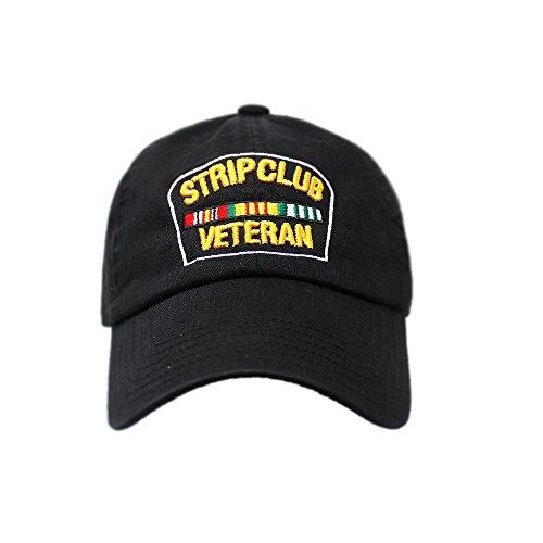 ChoKoLids Strip Club Veteran Snapback Dad hat - Flat Visor Baseball Cap Dad hat (DH Black)