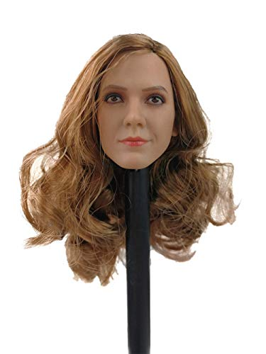 Phicen 1/6 Scale Female Head Sculpt with Brown Hair for 12