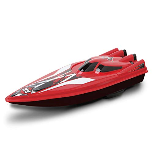 BLACK SERIES RC Speedboat Racers, Remote Control Boat with Real Motorized Propellers, Works in Water, Pools, Lake, and Freshwater Environments, 2.4 GHz, Up to 80 Feet Operating Range - - Racer Rc Speed