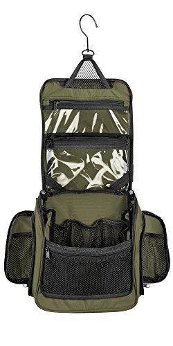 Medium Size Hanging Toiletry Bag with Detachable TSA Compliant Zipper Pocket & Swivel Hook
