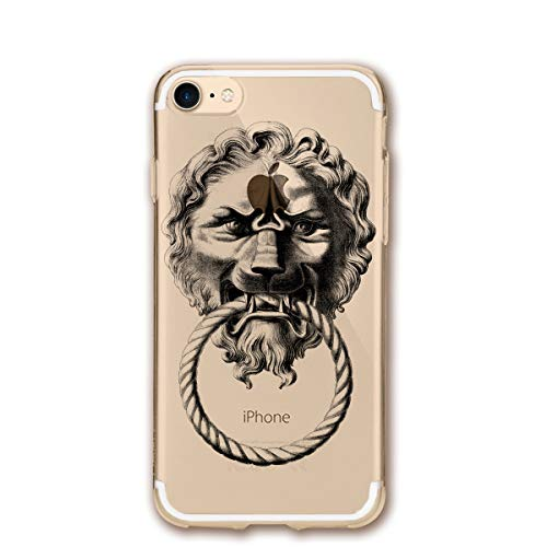 (Retro Lion Door Knocker iPhone 7/8 Case Cover Phone Classic Shell Full Protective Case 4.7