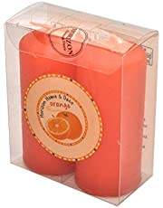 Horizon Candle Orange Scented Pillar Candle 2 pieces
