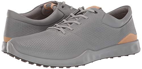 ECCO Men's S-Lite Golf Shoe, Wild Dove Yak Leather, 43 M EU (9-9.5 US)