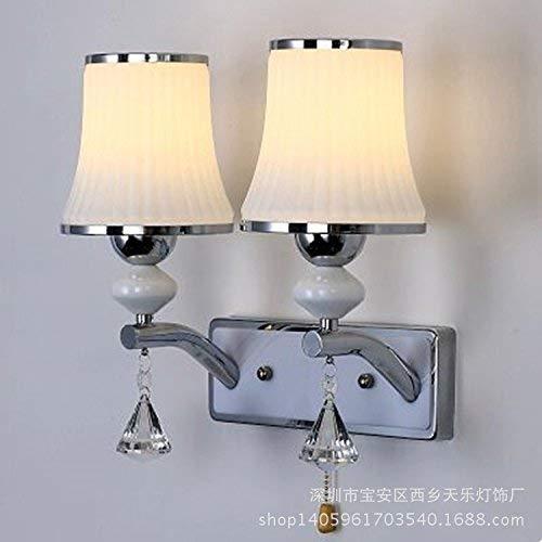 Eeayyygch Wandleuchte Kreative Wandleuchte Einfache Europäische Moderne Schlafzimmer Nachttischlampe, Wohnzimmer Wandleuchte, Hotel Wandleuchte Engineering Beleuchtung (Farbe   -, Größe   -)
