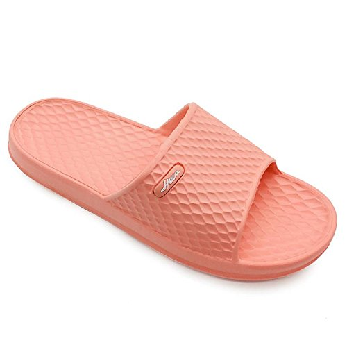 ens Bathroom Shower Slippers Indoor Home Beach Non Slip Sandal (US Women 8, Pink) ()