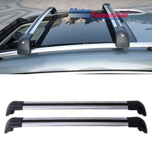 - MotorFansClub Roof Rack Luggage Rack Rail Cross Bar for Volkswagen VW Tiguan 2010-2016 Silver Aluminum