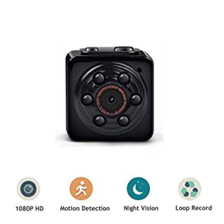 ENKLOV Mini Camera - 1080P Video Camera with Night Vision,Motion Detection,Indoor/Outdoor Use