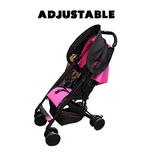 SHZONS Strollers Mosquito Net, Baby Stroller Universal Mosquito Net Sun Shade Anti-UV Foldable Mosquito Net,27.56×27.56'' by SHZONS (Image #4)