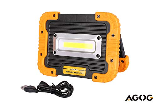 AGOG Portable 1000lumens 10W Ultra Bright LED Work Light? Outdoor Waterproof Flood Lights with Built-in Rechargeable Power Bank ?Four Models Include SOS Emergency Mode