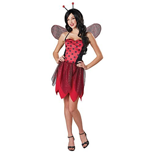 [Totally Ghoul Miss Ladybug Costume, Size Medium] (Ladybug Teen Costumes)