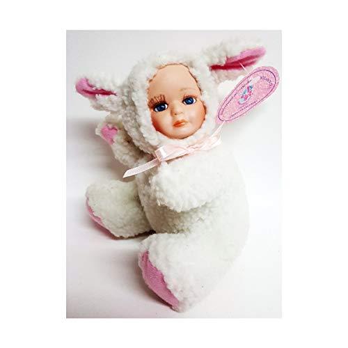 J Misa Porcelain Baby Doll in Lamb Costume 6