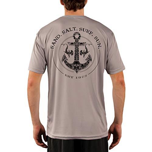 - SAND.SALT.SURF.SUN. Shark Anchor Men's UPF 50+ Short Sleeve T-Shirt XX-Large Athletic Grey