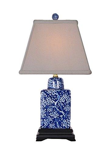 Blue And White Porcelain Table Lamps (REVERSE BLUE & WHITE TEA JAR LAMP)