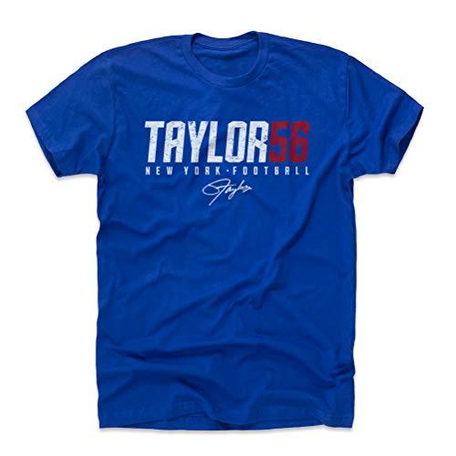500 LEVEL Lawrence Taylor Cotton Shirt (XX-Large, Royal Blue) - New York Giants Men's Apparel - Lawrence Taylor Taylor56 W WHT
