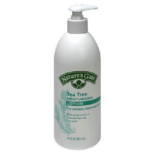 Nature's Gate Moisturizing Lotion, Tea Tree, for Irritated, Distressed Skin, 18 Ounce (532 ml)