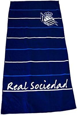 Real Sociedad Toarso Toalla, Blanco/Azul, Talla Única: Amazon.es ...