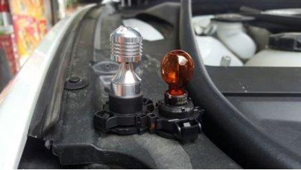 a285814b71ed GFJMC Amber Yellow Error Free Cree PY24W LED Bulbs For BMW E92 E93 3 F10