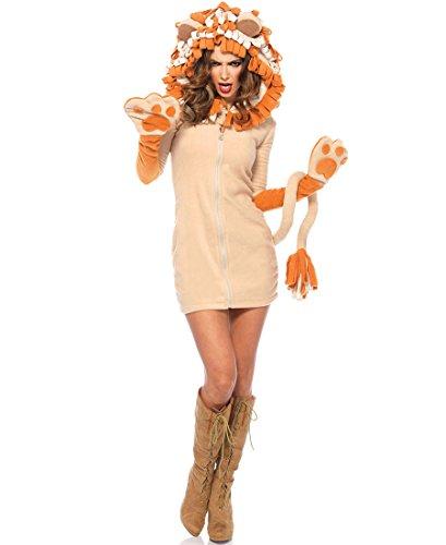 Women's Cozy Lion Costumes (Cozy Lion Adult Costume - Medium)