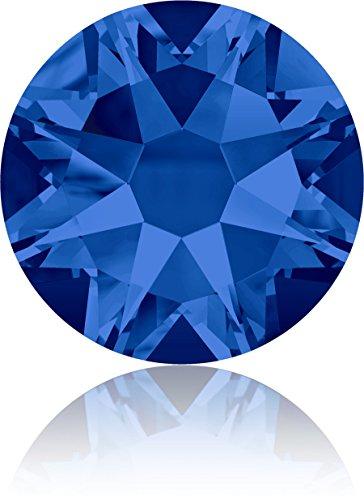 (Swarovski Professional 2088 SS16 Capri Blue Flat Back Crystal Rhinestone)