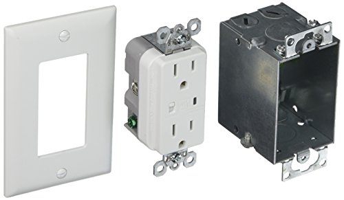 Kit Protection Surge - Legrand - On-Q 36456902V1 Duplex Outlet Kit, Surge Protected