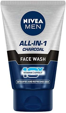 NIVEA MEN Face Wash (Charcoal), All-in-One, 100g