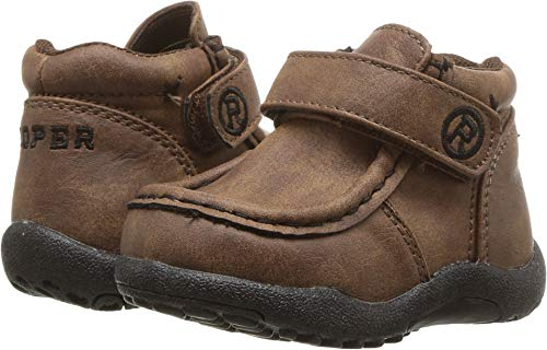 Roper Kids Baby Boy's Cowboy Moc (Infant/Toddler) Brown Faux Leather 3 M US Infant