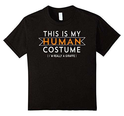 Kids Giraffe Costume Shirt Halloween Funny Easy for Kids & Adults 8 Black