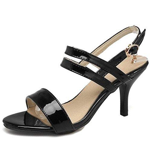 Zanpa Mujer Dulce Dress Sandales Stiletto Tacon Verano Zapatos Negro