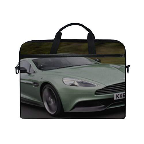 - Supercar Green Aston Martin Laptop Shoulder Messenger Bag Case Sleeve for 14 Inch to 15.6 Inch with Adjustable Notebook Shoulder Strap