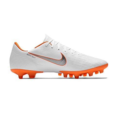 Nike Mercurial Vapor 12 AG PRO, Scarpe da Calcio Uomo Bianco (White/Chrome-total O 107)