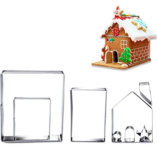 GingerBread House Cookie Cutter with Matching Stencil