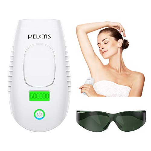 IPL Hair Removal System PELCAS 600,000 Flashes Light Hair Removal Device Permanent Professional Full Body Hair Removal Epilator 2 in 1 Functions Strengthen Version for Home Use