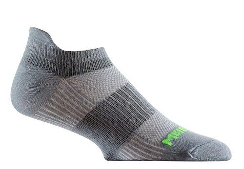 - Wrightsock Coolmesh II Tab Running Socks - 2 Pack, Steel Grey, Large