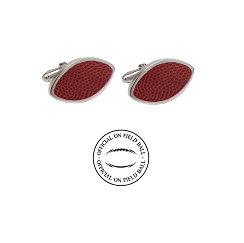 Official On Field Leather Football Cufflinks with Gift Box (Kansas City) ()