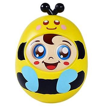 OFKPO Bebé Tumbler Bee Roly Poly Toy para Gatear Niños Pequeños Bebés con Sonidos Vaso de Little Bee
