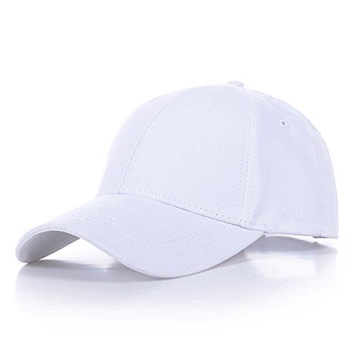 海嶺影響好奇心GLJF 帽子男性の夏野球帽カジュアルな学生スポーツバイザー帽子3色使用可能 (色 : 白)