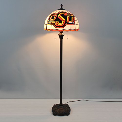 - 16-inch NCAA Oklahoma State Cowboys Stained Glass Floor Lamp