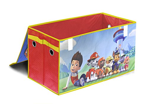 Paw Patrol Toy Organizer Bin Cubby Kids Child Storage Box: Nickelodeon Paw Patrol Collapsible Storage Trunk
