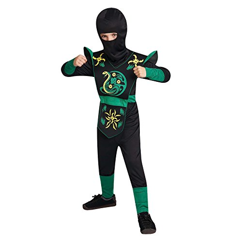 Totally Ghoul Serpent Ninja Costume, Boy's size Large