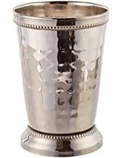 Elegance 12 oz Hammered Mint Julep Cup, Large, Silver