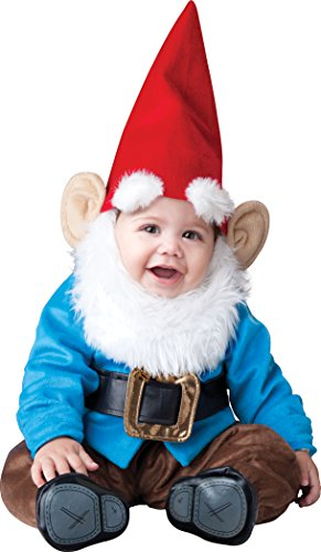 InCharacter Baby Garden Gnome Costume, Red/Blue, Small